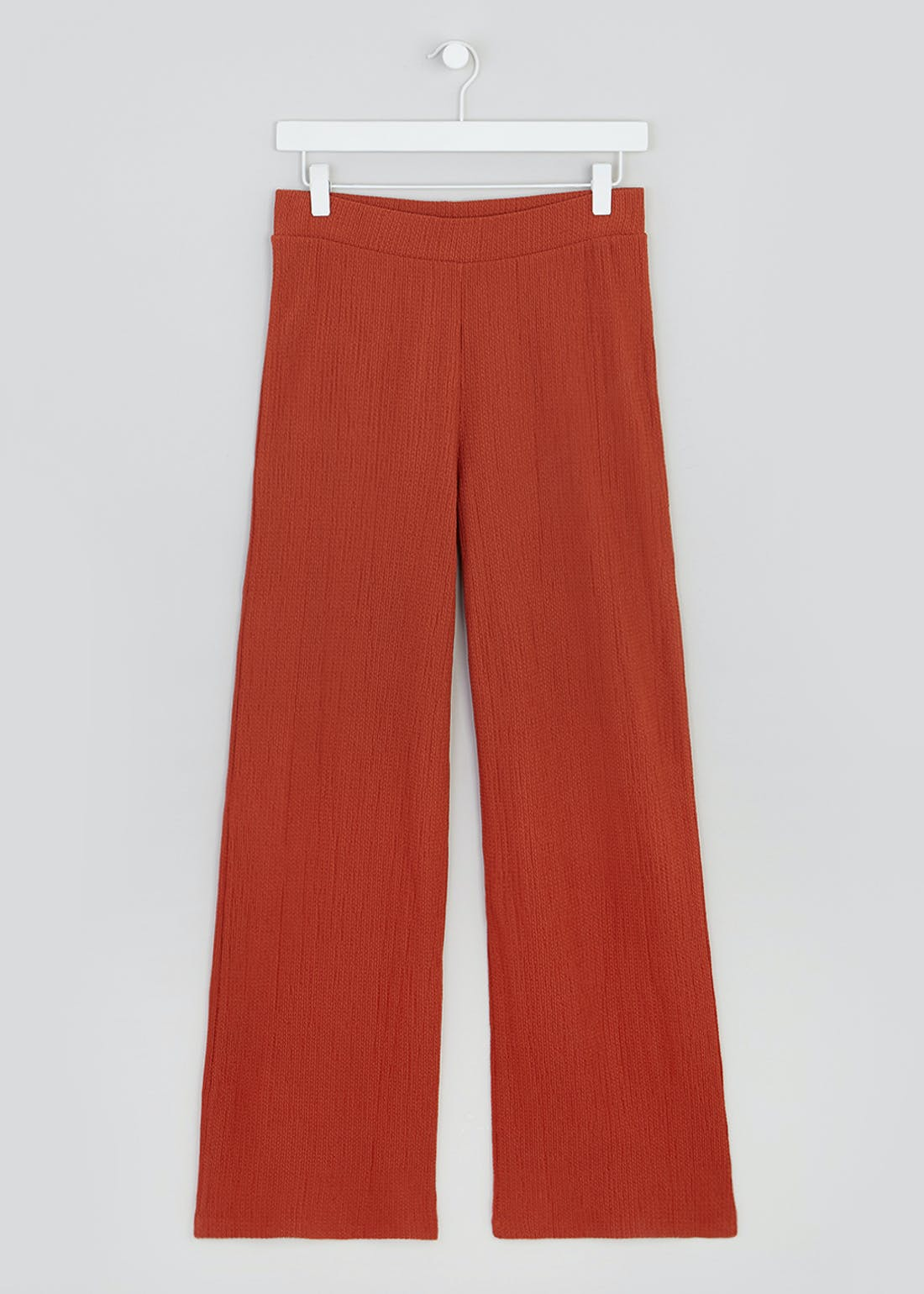 Textured Wide Leg Co-Ord Trousers