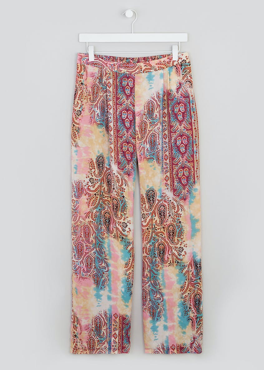 Paisley Tie Dye Wide Leg Co-Ord Trousers