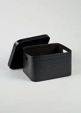 Mock Croc Storage Box (34cm x 30cm x 21cm)