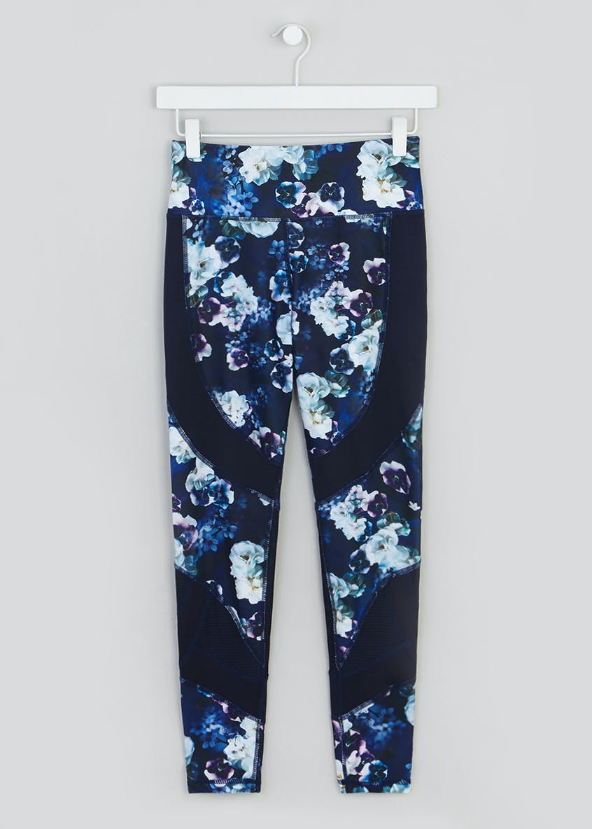 Souluxe Floral Panel Gym Leggings
