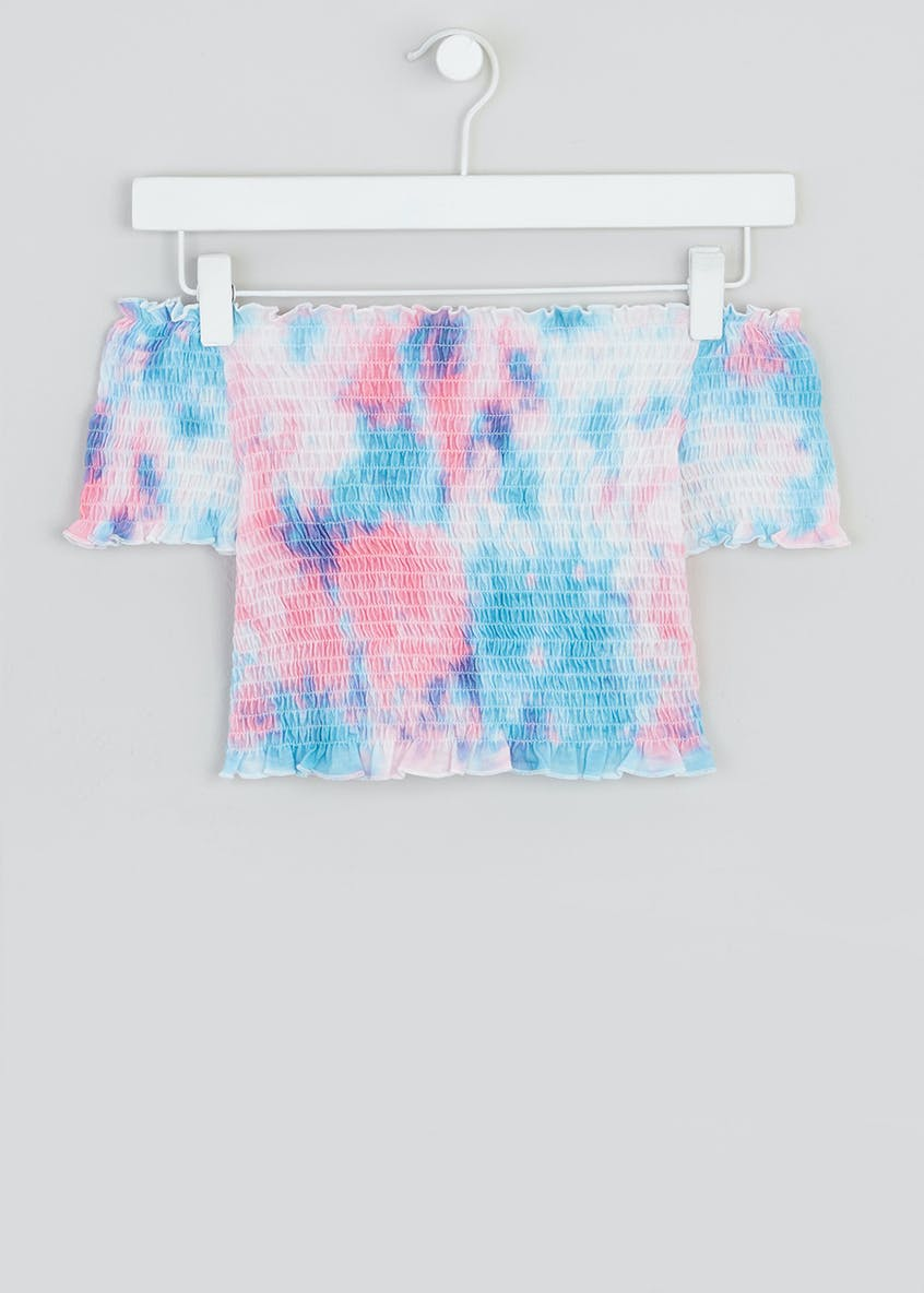 Girls Candy Couture Tie Dye Bardot Top (9-16yrs)