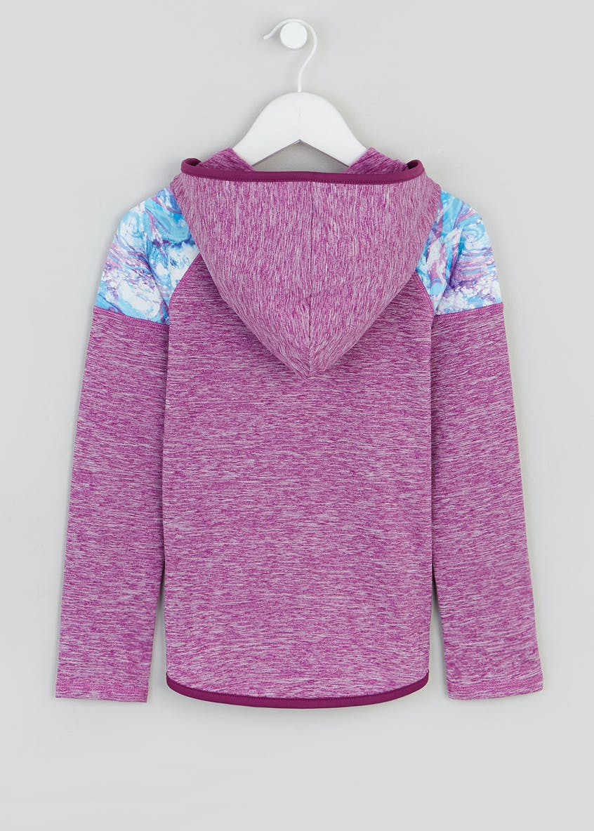 Girls Souluxe Marble Space Dye Sports Hoodie (4-13yrs)