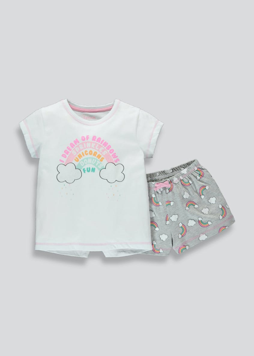 Kids Rainbow Short Pyjama Set (4-13yrs)