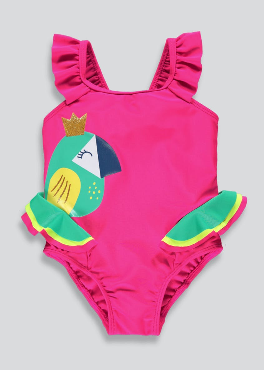 Girls Toucan Frill Swimming Costume (9mths-6yrs)