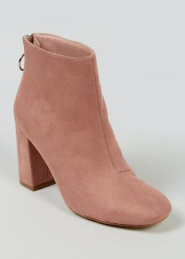 Circle Zip Ankle Boots