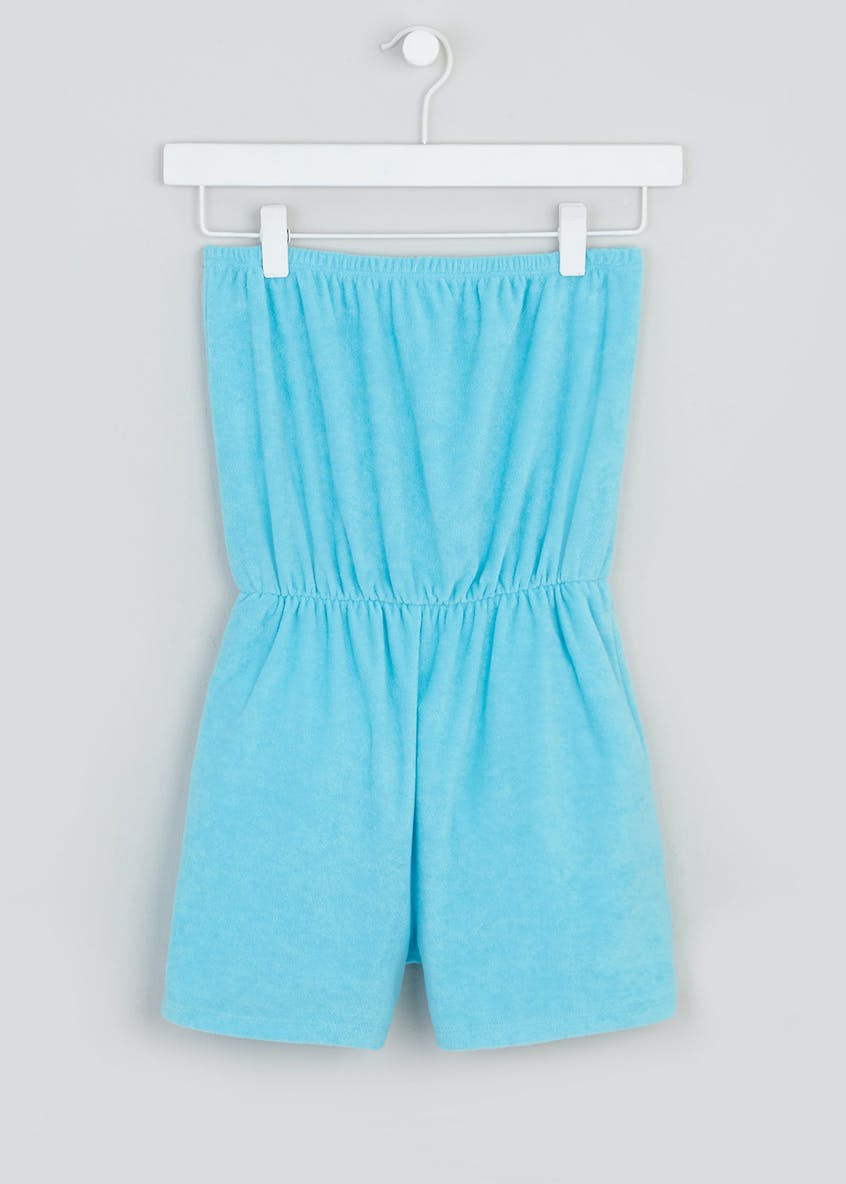 Girls Candy Couture Bandeau Towelling Playsuit (9-16yrs)