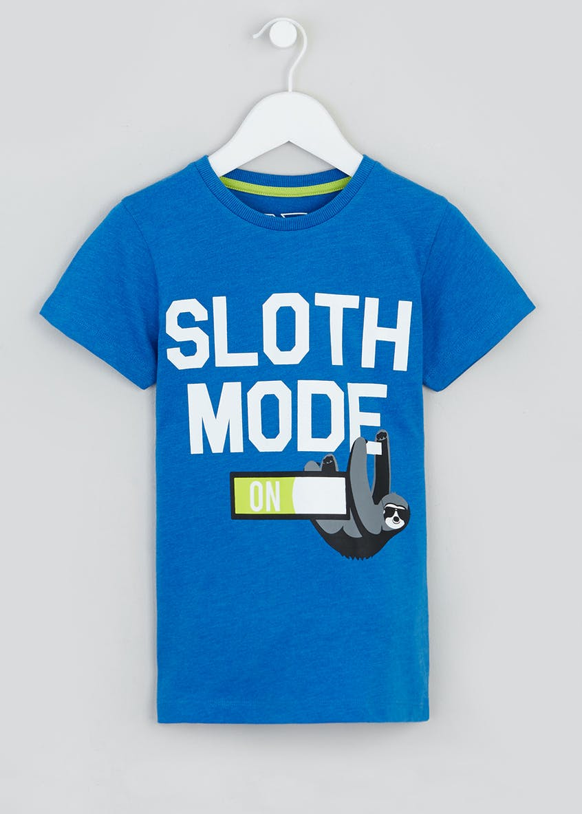 Kids Sloth Mode Slogan T-Shirt (4-13yrs)