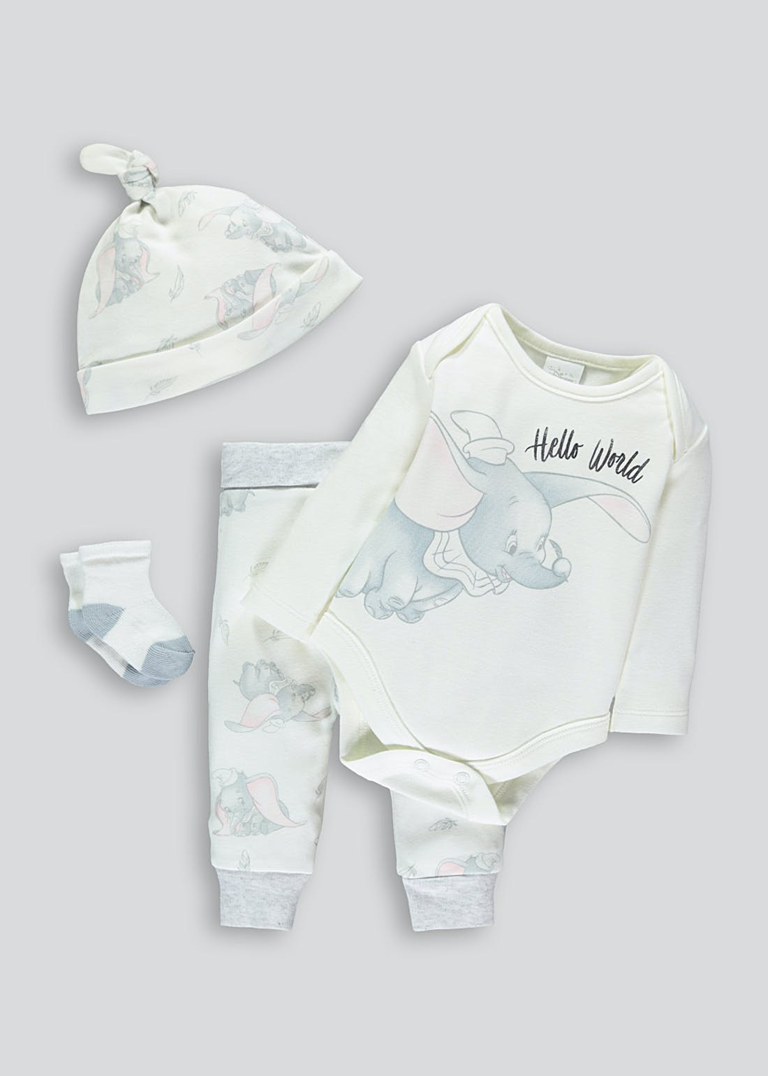 Unisex 4 Piece Disney Dumbo Gift Set (Newborn-9mths)