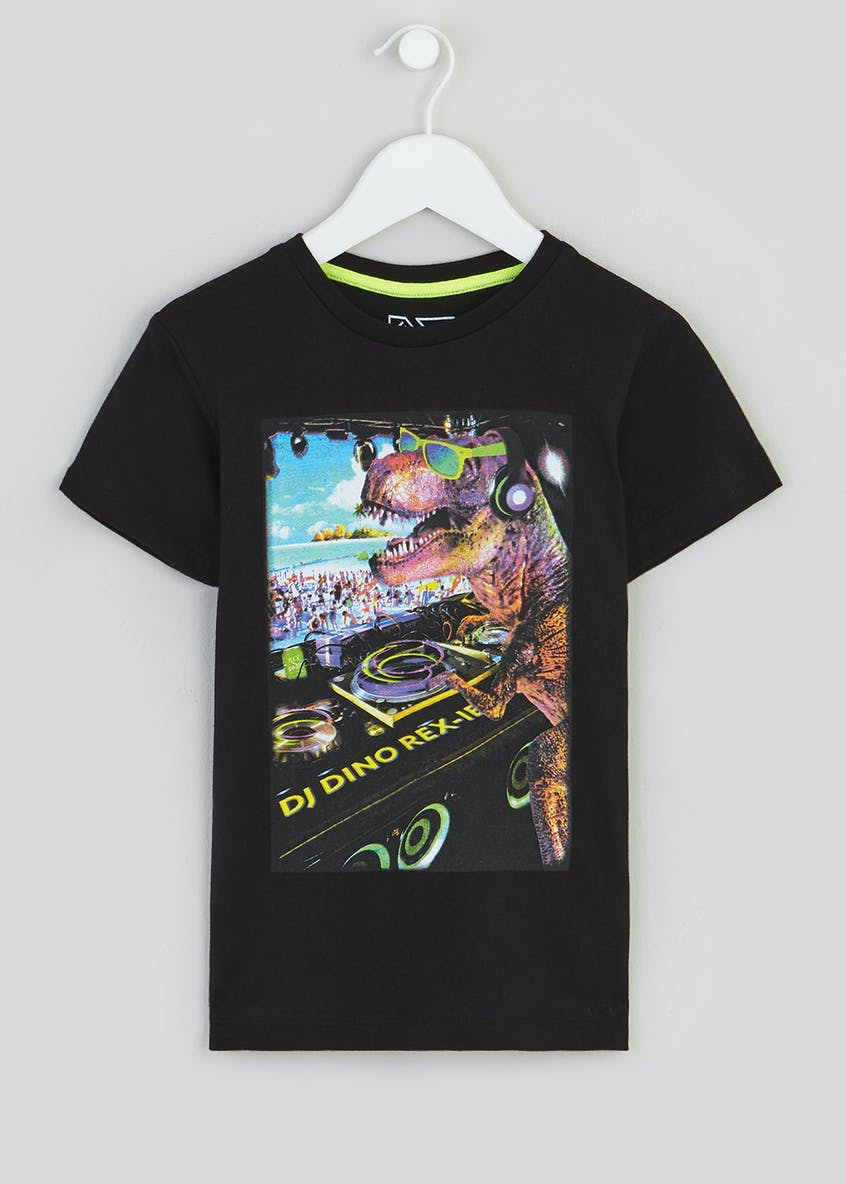 Kids Dinosaur DJ T-Shirt (4-13yrs)