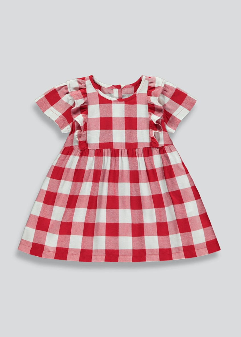 Girls Gingham Viscose Dress (9mths-6yrs)