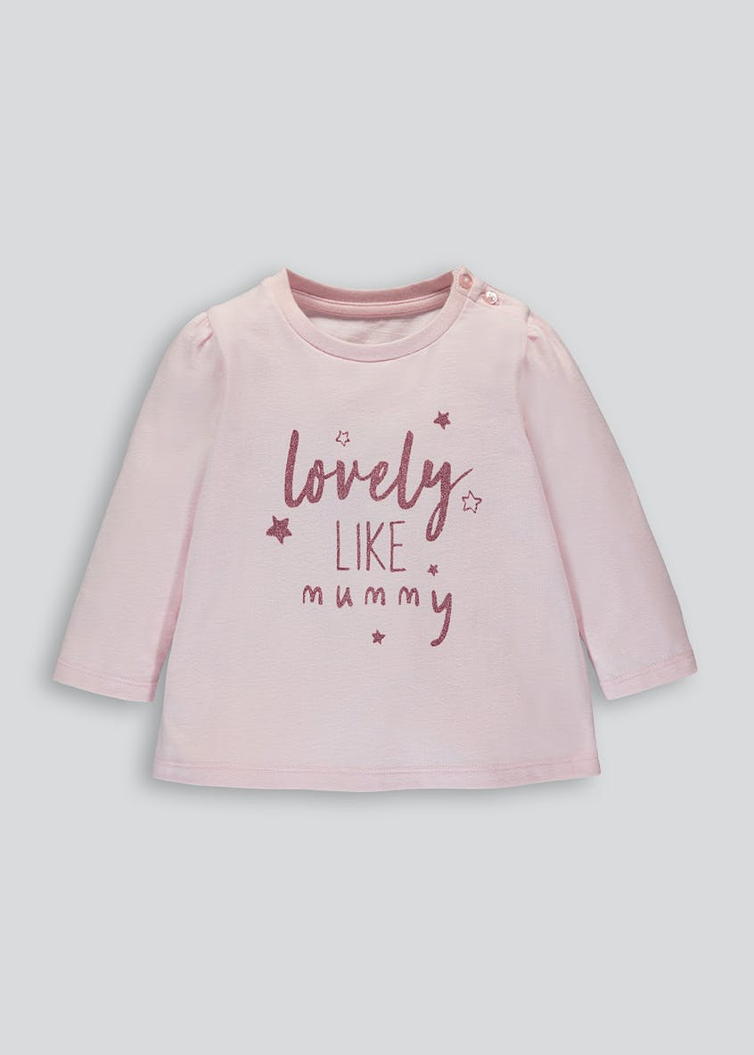 Girls Mummy Slogan T-Shirt (Newborn-18mths)