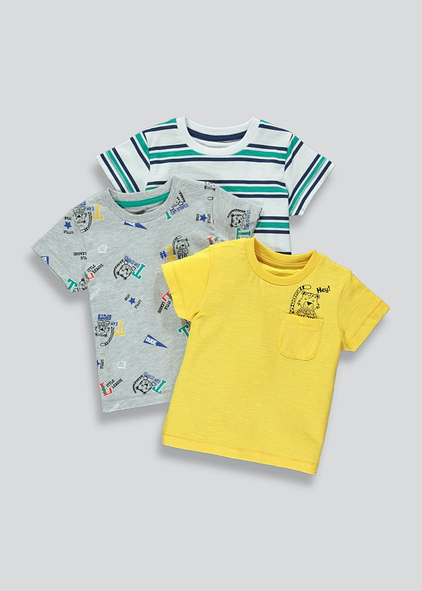 Kids 3 Pack Tiger T-Shirts (9mths-6yrs)