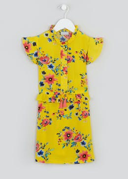 Girls Floral Cap Sleeve Dress (4-13yrs)