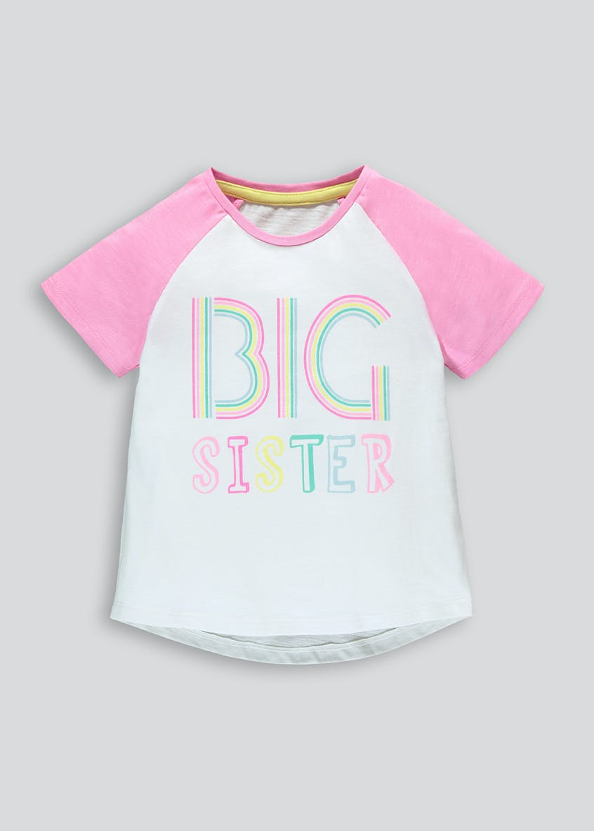 Girls Big Sister Slogan T-Shirt (9mths-6yrs)