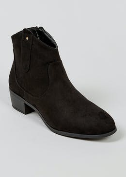 Black Western Ankle Boots
