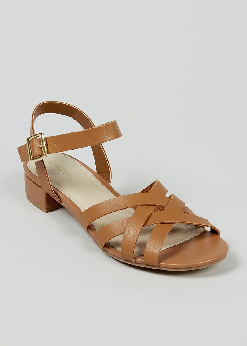 Multi Strap Block Heel Sandals