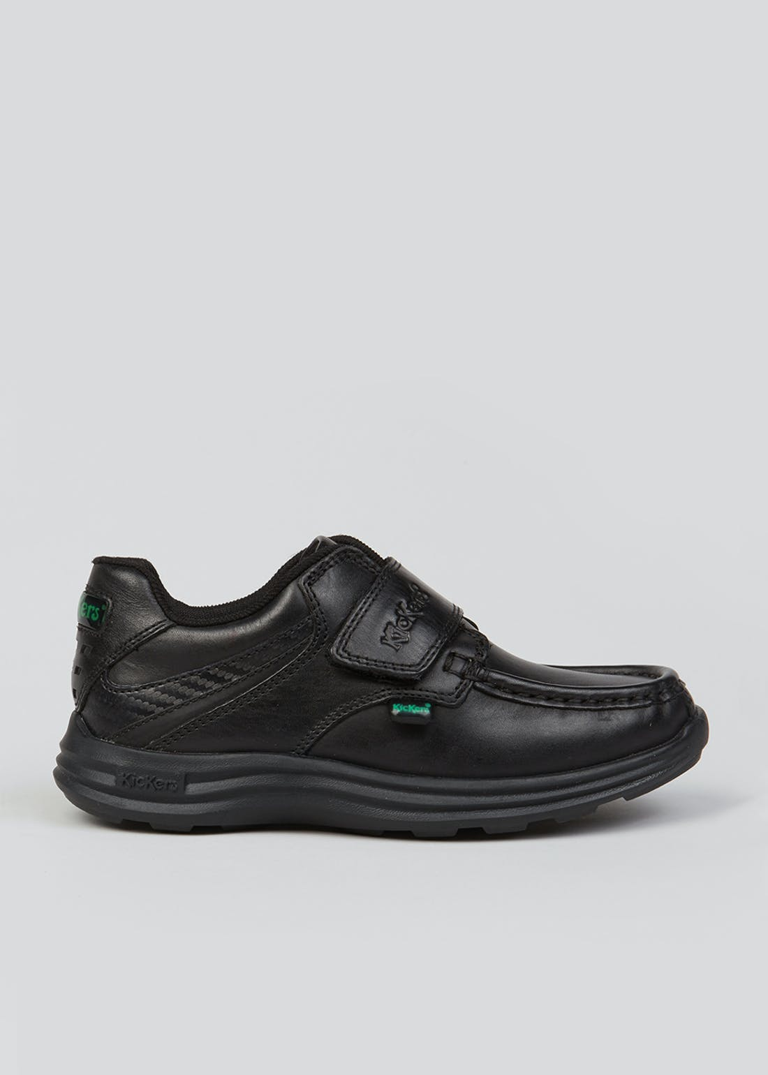 Boys Kickers Black Reasan Strap Shoes (Younger 13-Older 2)