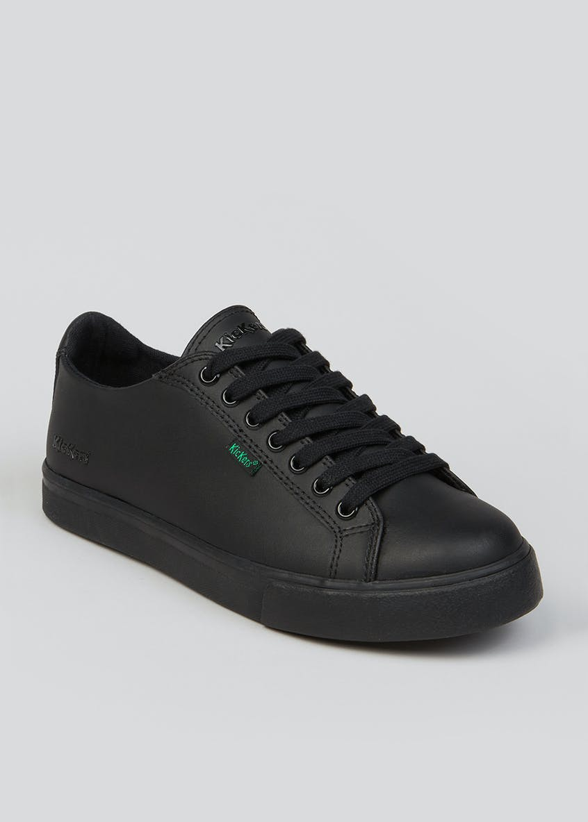 Boys Kickers Black Tovni Lace up Shoes (Younger 13-Older 6)