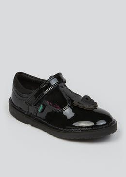 Girls Kickers Adlar T-Bar Patent Leather Shoes (Younger 5-12)