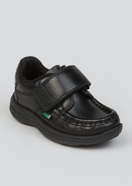 Boys Kickers Black Reasan Sawrus Shoes (Younger 5-12)