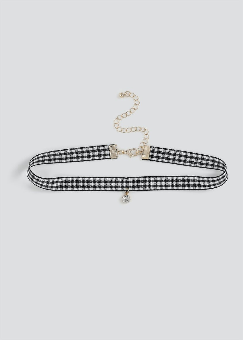 Gingham Crystal Choker.