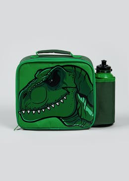Kids Dinosaur Lunch Bag & Water Bottle (23cm x 20cm x 9cm)
