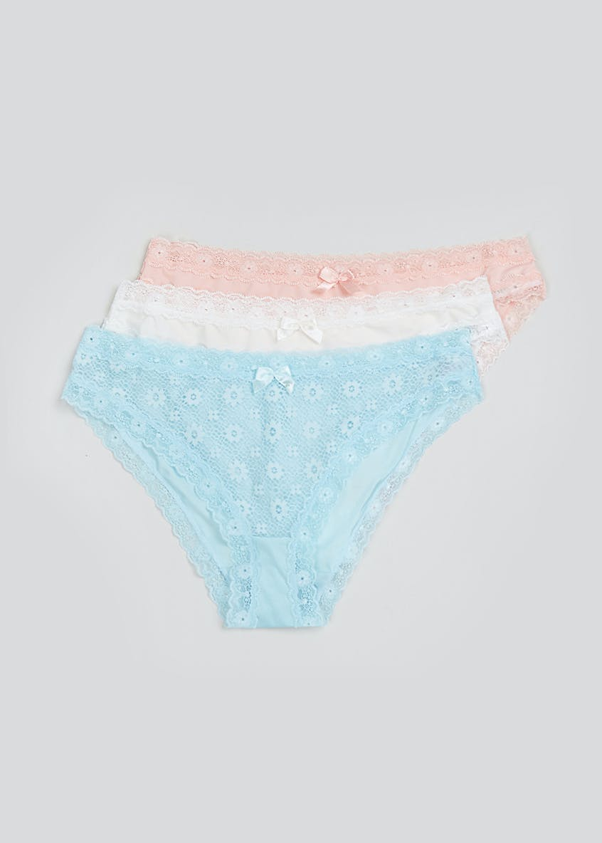 3 Pack Corded Lace Mini Knickers