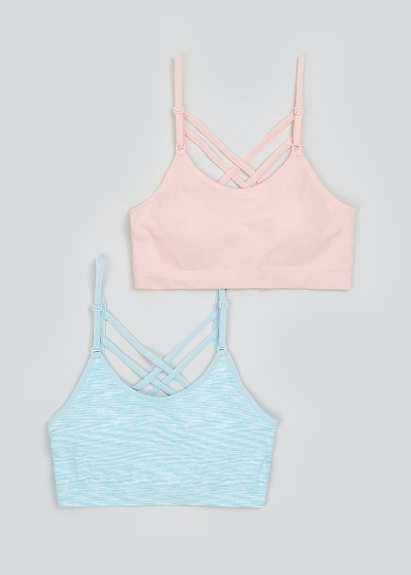 2 Pack Seam Free Padded Non-Wired Sports Bras