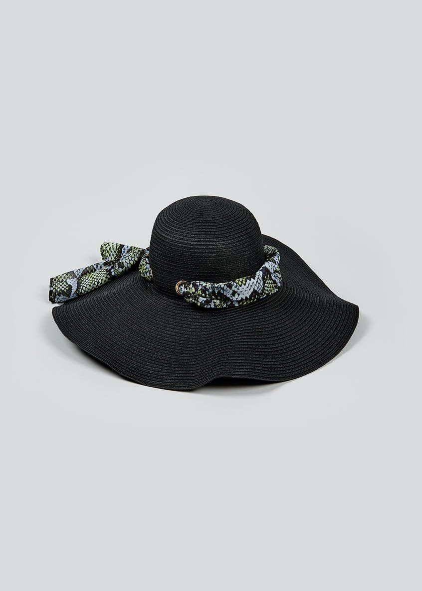 Julien Macdonald Snake Print Floppy Hat