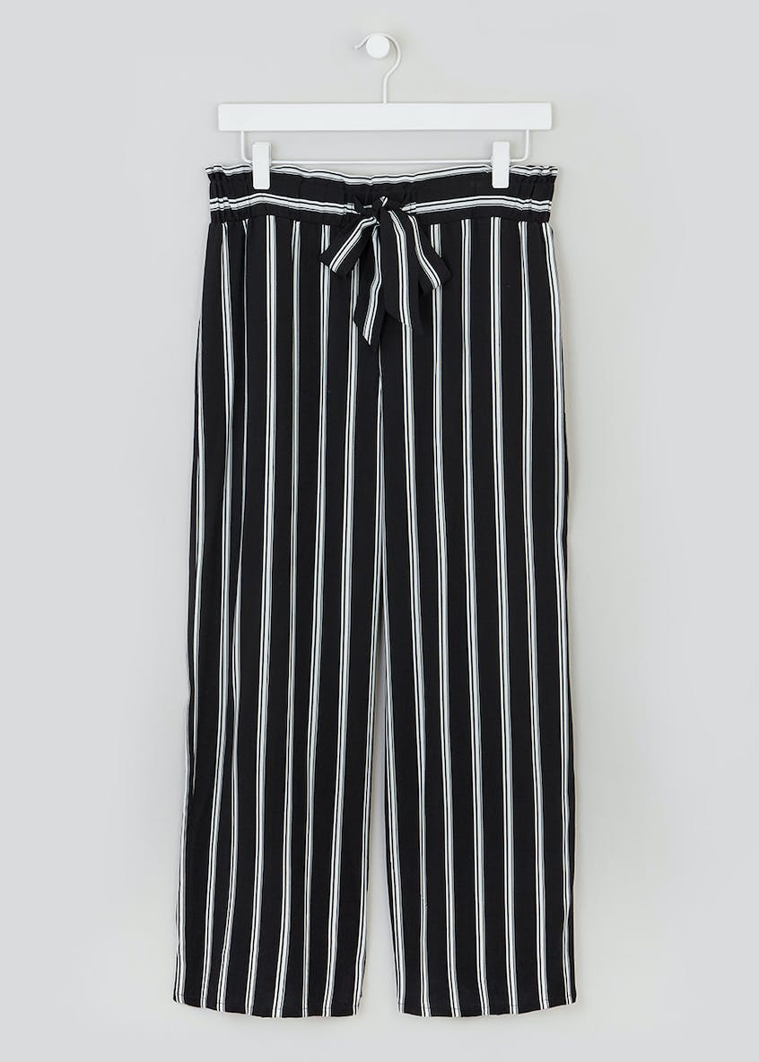 Papaya Petite Stripe Wide Leg Trousers