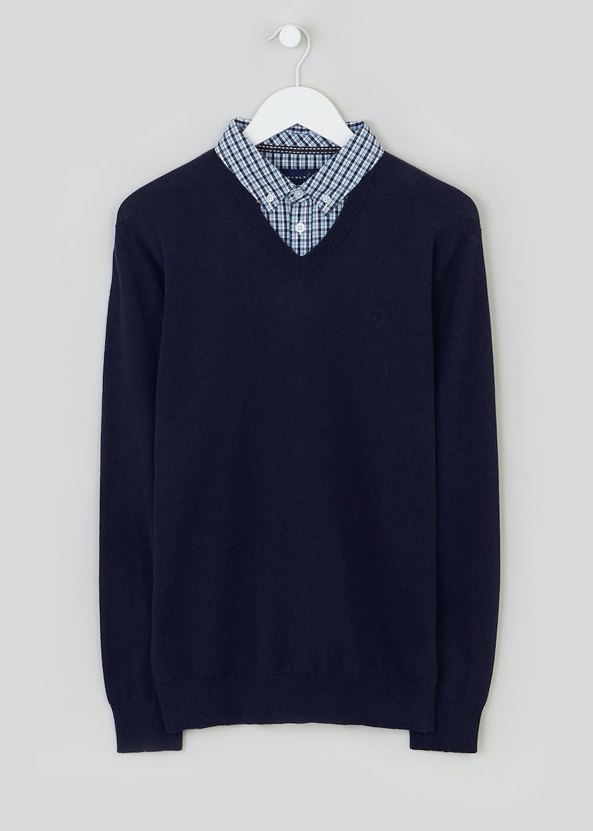Lincoln Mock Shirt Jumper