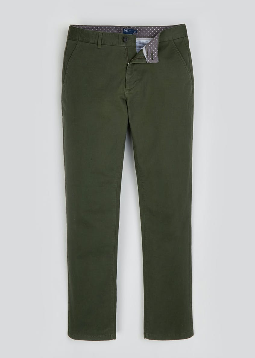 Straight Leg Stretch Chino Trousers