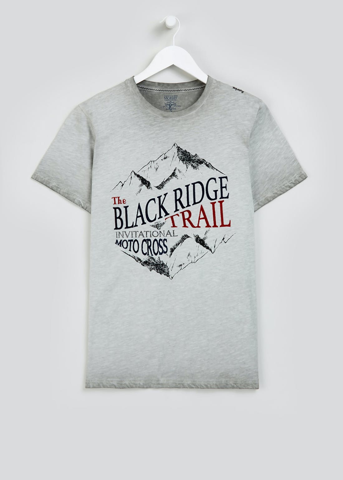 Morley Black Ridge Printed T-Shirt