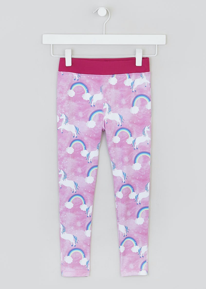 Girls Souluxe Unicorn Sports Leggings (4-13yrs)