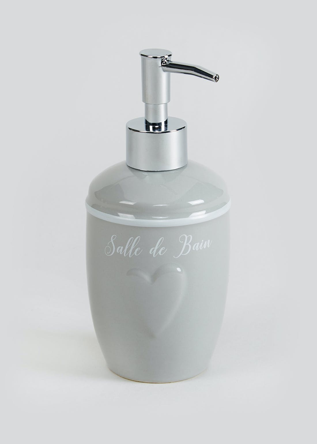 Heart Ceramic Soap Dispenser (19cm x 8cm)