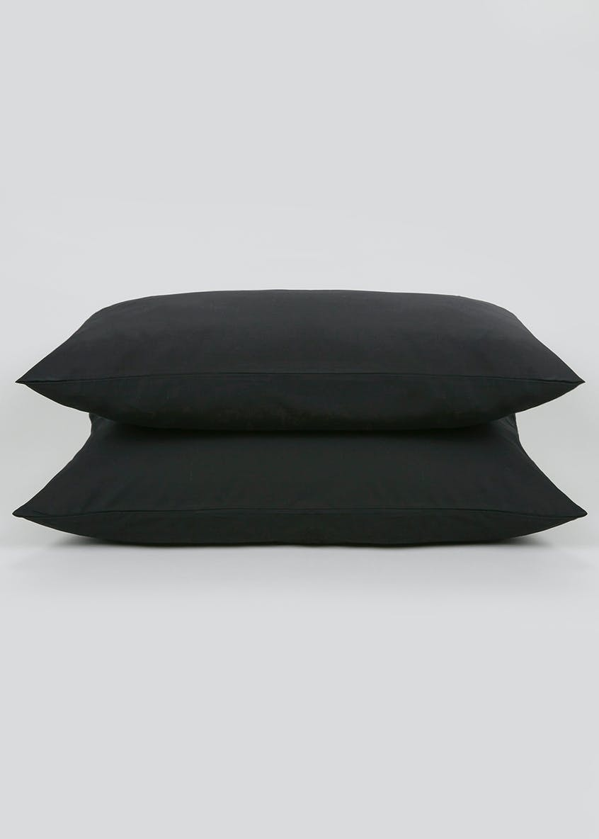 Cotton Rich Housewife Pillowcase Pair (180 Thread Count)