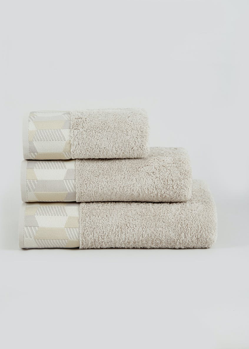 Stripe Border Towels