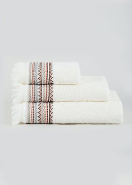 Tassel Border Towels