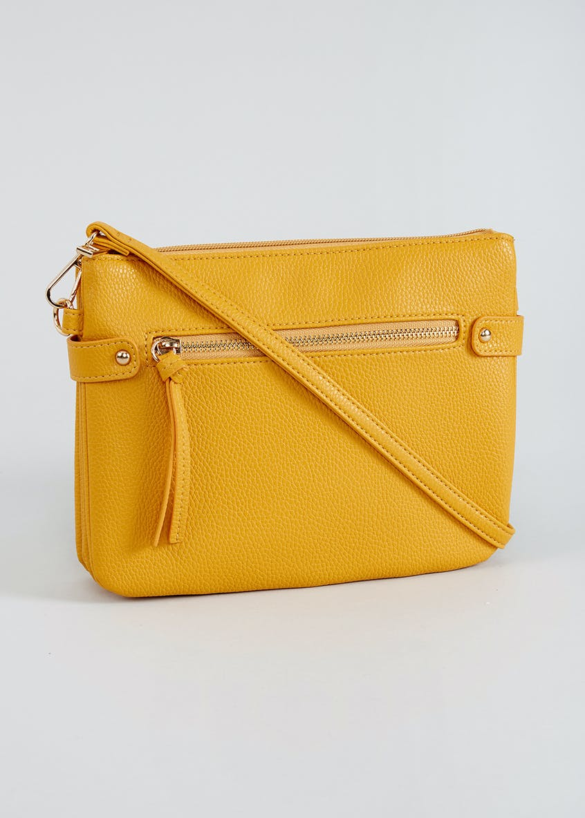 Triple Compartment Cross-Body Bag