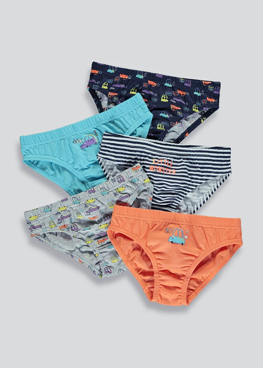 Boys 5 Pack Transport Briefs (2-9yrs)