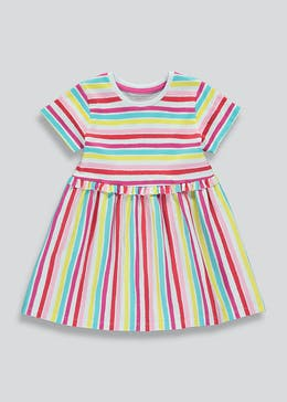 Girls Stripe Jersey Dress (9mths-6yrs)