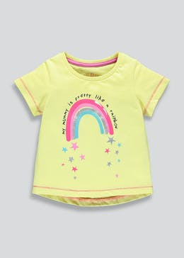 Girls Mummy Rainbow Slogan T-Shirt (9mths-6yrs)