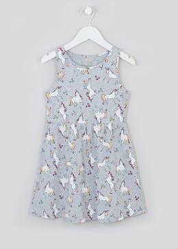 Girls Unicorn Dress (4-13yrs)