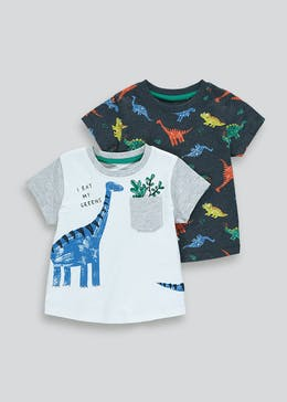 Boys 2 Pack Printed T-Shirts (9mths-6yrs)