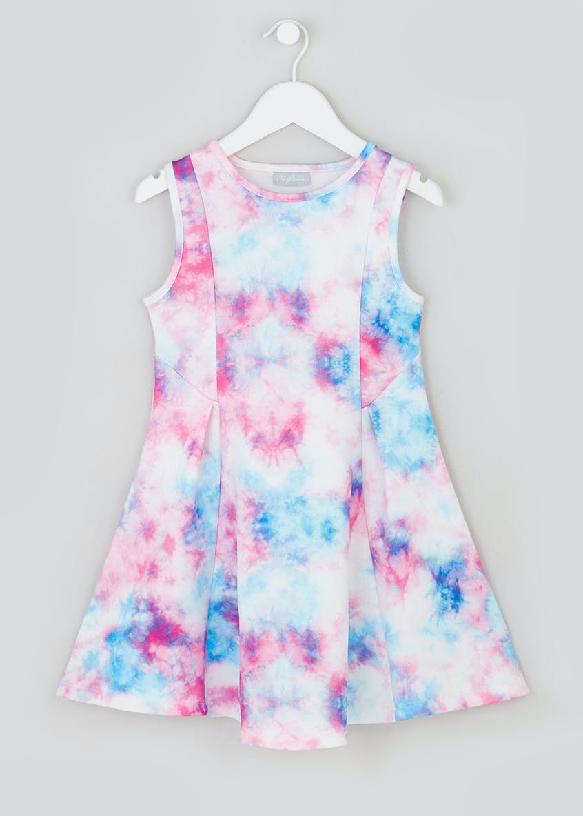 Girls Tie Dye Scuba Dress (4-13yrs)