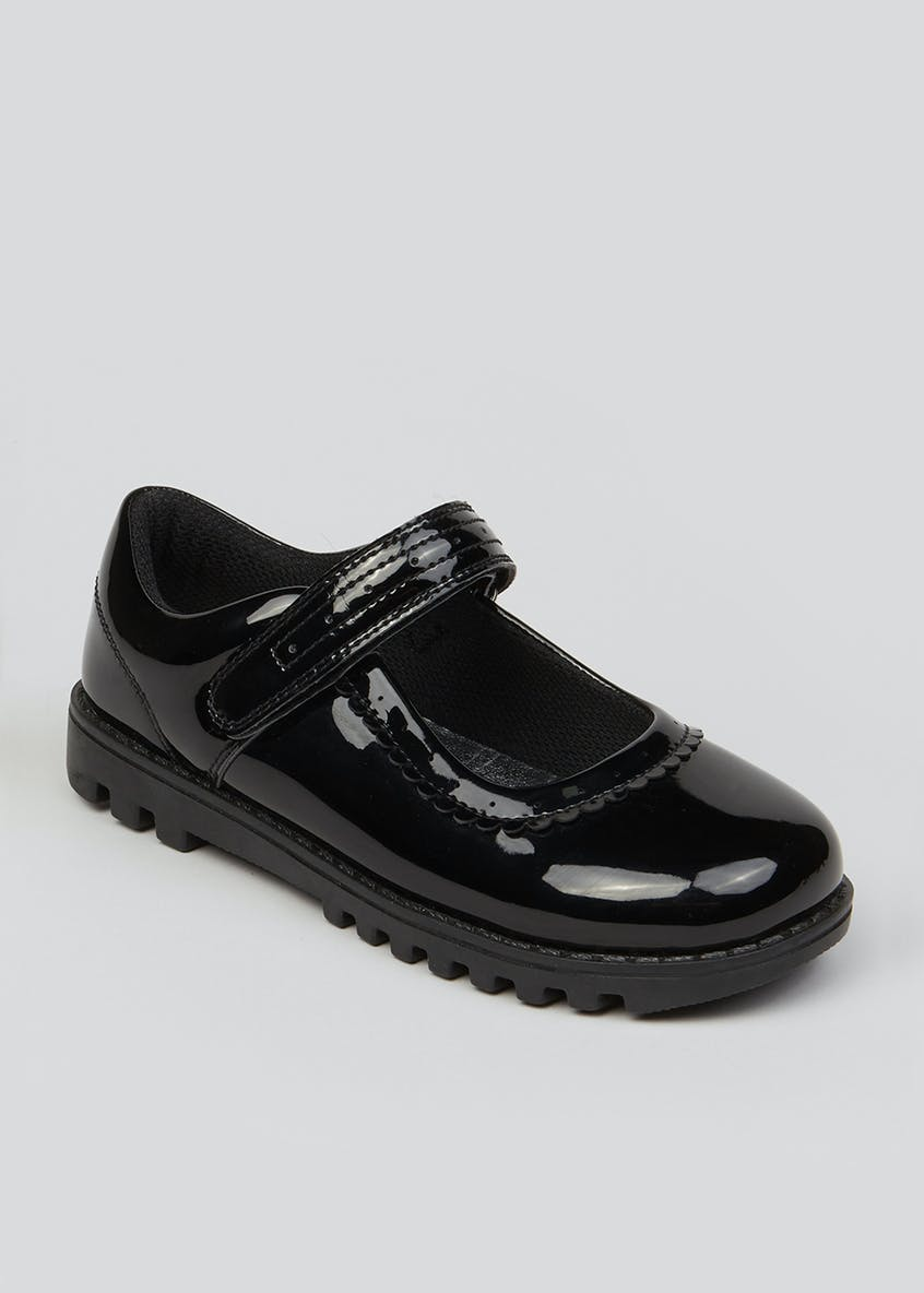 Girls Black Patent Mary Jane Shoes (Younger 10-Older 5)