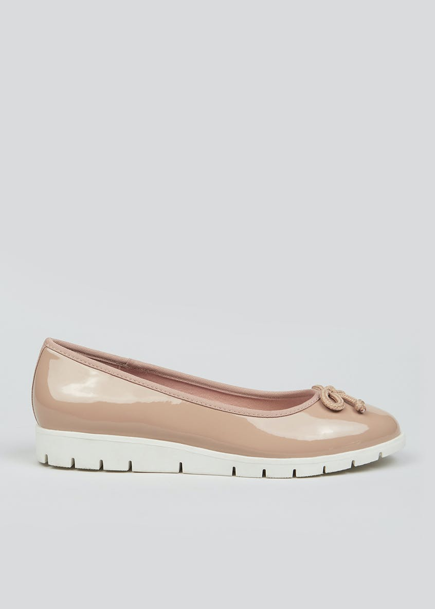 Soleflex Patent Wedge Ballet Shoes