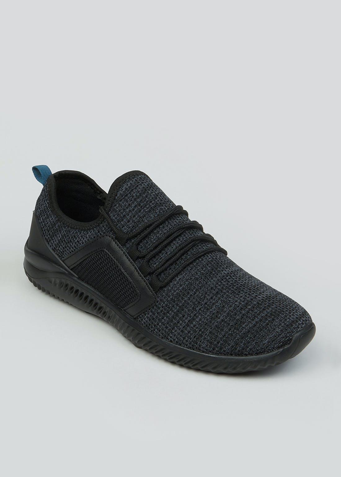 Souluxe Black Knitted Trainers