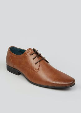 Tan Lace Up Formal Shoes