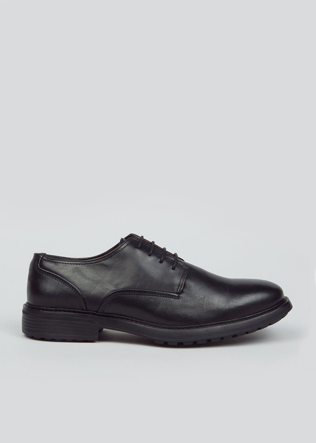 Soleflex Black Real Leather Lightweight Shoes